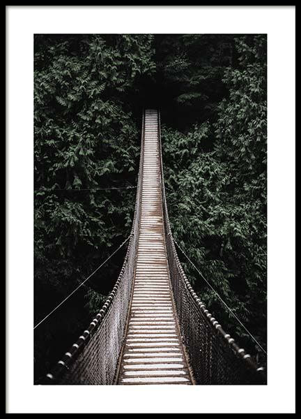 Forest bridge Poster in the group Posters & Prints / Sizes / 50x70cm | 19,7x27,6 at Desenio AB (2712)
