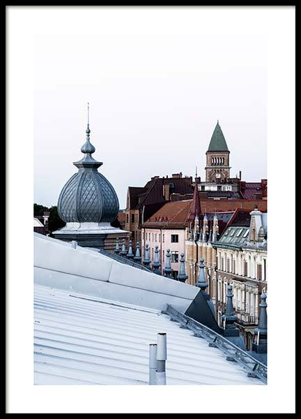 Gothenburg Rooftops Poster in the group Posters & Prints / Photography at Desenio AB (2746)