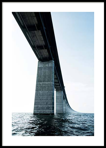Oresund Bridge Poster in the group Posters & Prints / Sizes / 50x70cm | 20x28 at Desenio AB (2748)