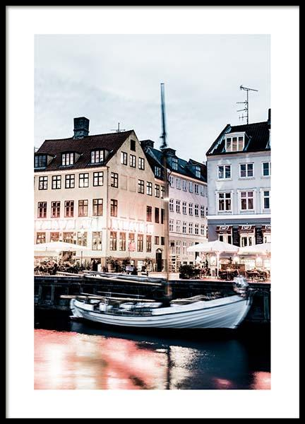 Nyhavn Waterfront Poster in the group Posters & Prints / Photography at Desenio AB (2750)