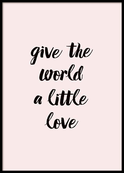 A Little Love Poster in the group Posters & Prints / Typography & quotes at Desenio AB (2761)