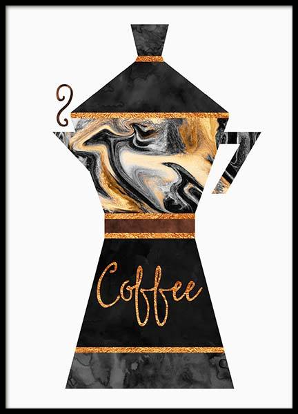 Coffee Pot Poster in the group Posters & Prints / Kitchen at Desenio AB (2762)