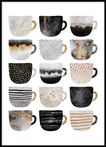 Coffee Cups Poster in the group Posters & Prints / Handpicked / Elisabeth Fredriksson at Desenio AB (2804)