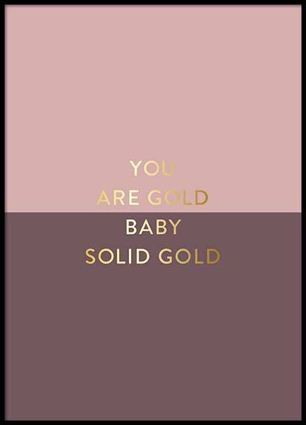 You Are Gold Pink Poster in the group Posters & Prints / Typography & quotes at Desenio AB (2851)