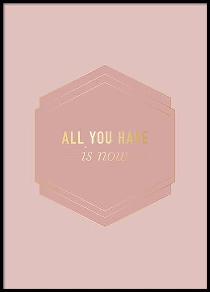 All You Have Pink Poster in the group Posters & Prints / Text posters at Desenio AB (2852)
