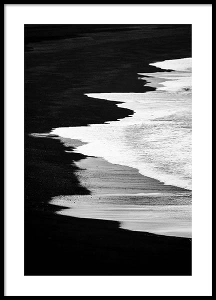 Beach B&W Poster in the group Posters & Prints / Black & white at Desenio AB (2862)
