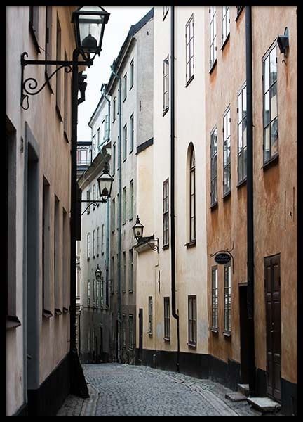 Stockholm Old Town No1 Poster in the group Posters & Prints / Photography at Desenio AB (2879)