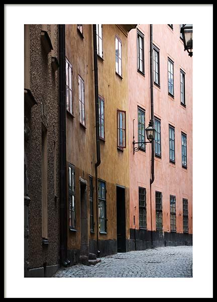 Stockholm Old Town No2 Poster in the group Posters & Prints / Photography at Desenio AB (2880)