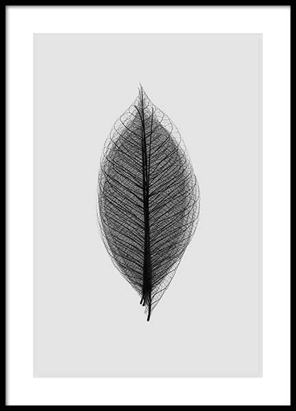 Leaf Overlay Poster in the group Posters & Prints / Black & white at Desenio AB (2928)