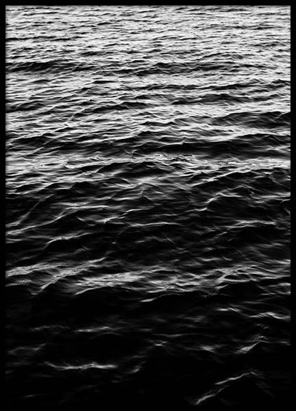 Ocean Surface B&W Poster in the group Posters & Prints / Black & white at Desenio AB (2944)