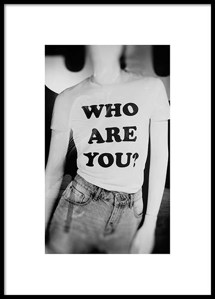 Who Are U Poster in the group Posters & Prints / Photography at Desenio AB (2961)