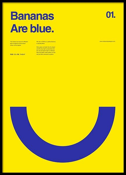 Bananas Are Blue Poster in the group Posters & Prints / Graphical at Desenio AB (2987)