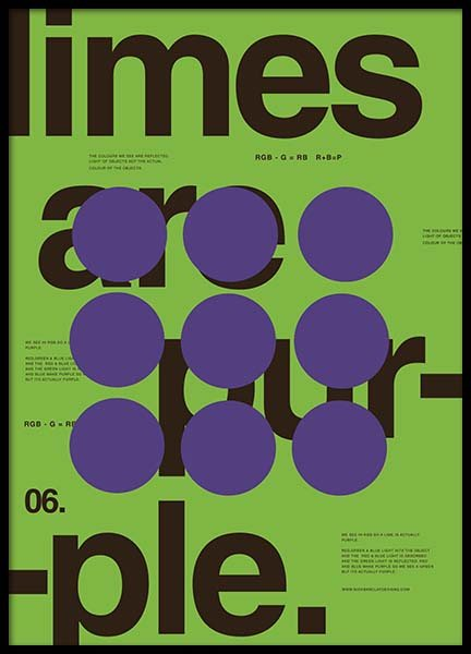 Limes Are Purple Poster in the group Posters & Prints / Graphical at Desenio AB (2989)