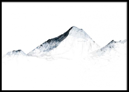 Grey Mountains Everest Poster in the group Posters & Prints / Art prints at Desenio AB (2990)