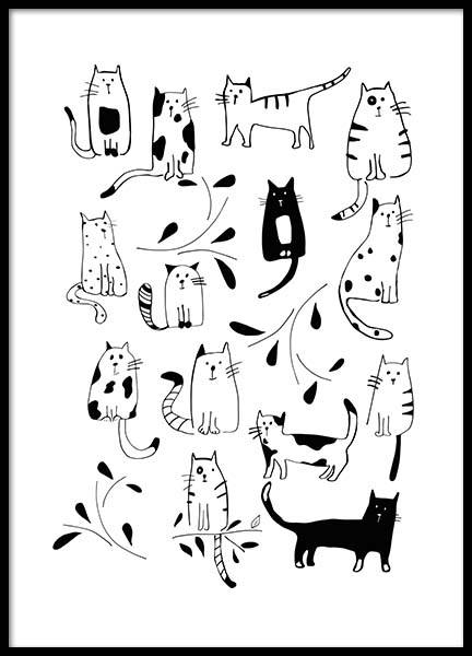 Cats Poster in the group Posters & Prints / Kids posters at Desenio AB (3117)
