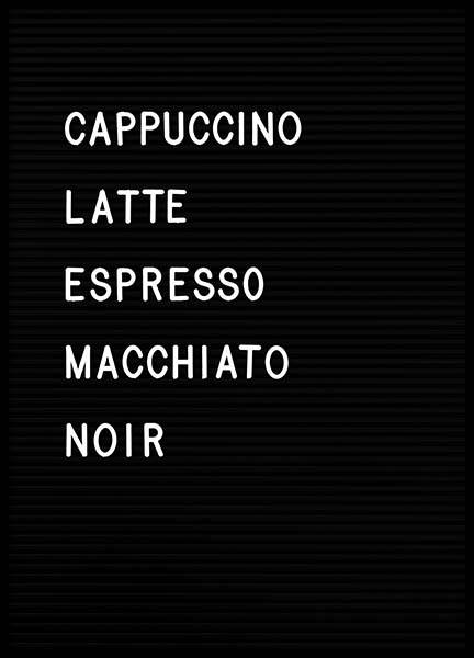 Coffee Chart (21x30) in the group Posters & Prints / Typography & quotes at Desenio AB (3130-4)