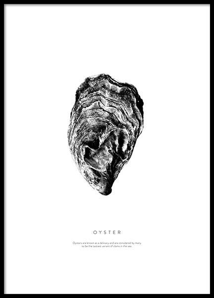 Oyster Poster in the group Posters & Prints / Black & white at Desenio AB (3164)