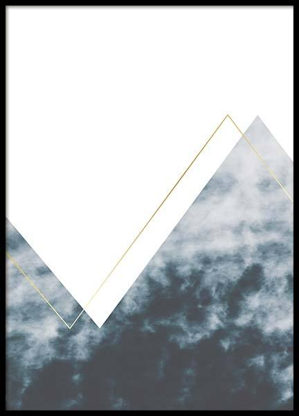 Graphic Mountain No1 Poster in the group Posters & Prints / Gold & silver at Desenio AB (3172)