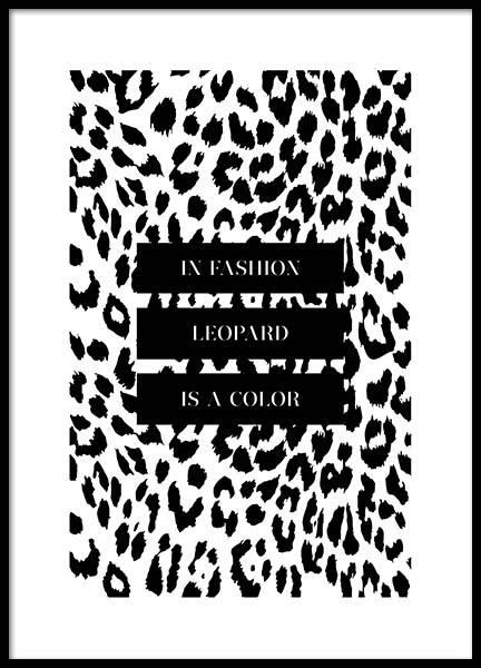 In Fashion Leopard Is A Color Poster in the group Posters & Prints / Typography & quotes at Desenio AB (3180)