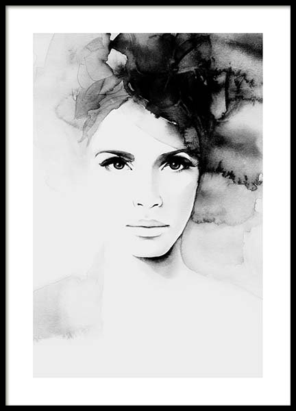 Pretty Anne Poster in the group Posters & Prints / Black & white at Desenio AB (3192)