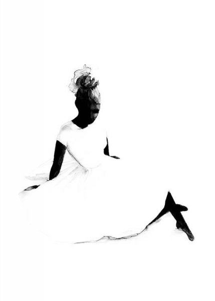 The Ballerina Poster in the group Posters & Prints / Black & white at Desenio AB (3195)