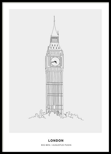 Architecture London Poster in the group Posters & Prints / Black & white at Desenio AB (3199)