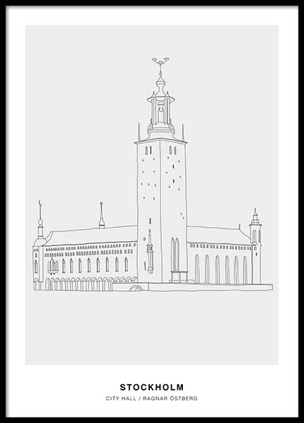 Architecture Stockholm Poster in the group Posters & Prints / Illustrations at Desenio AB (3202)