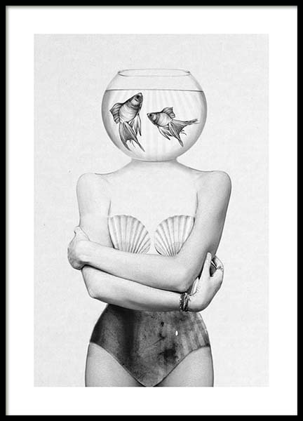 Fish Bowl Poster in the group Posters & Prints / Black & white at Desenio AB (3208)