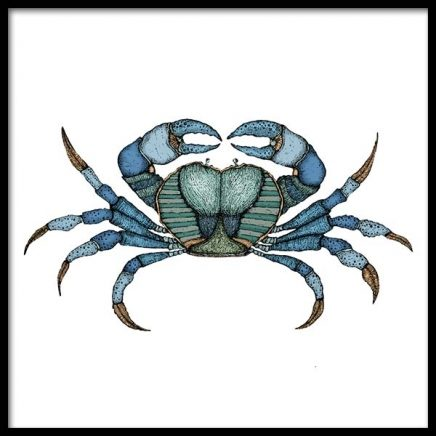 Blue Crab Poster in the group Posters & Prints / Kitchen at Desenio AB (3245)