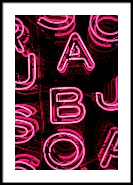 Neon Letters Poster in the group Posters & Prints / Photography at Desenio AB (3285)