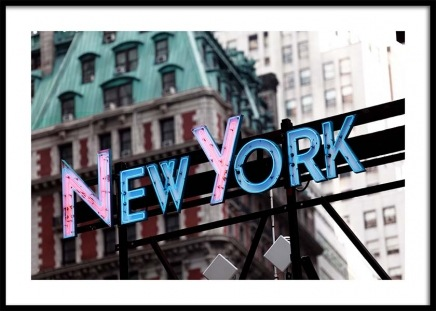 New York Neon Sign Poster in the group Posters & Prints / Sizes / 50x70cm | 20x28 at Desenio AB (3289)