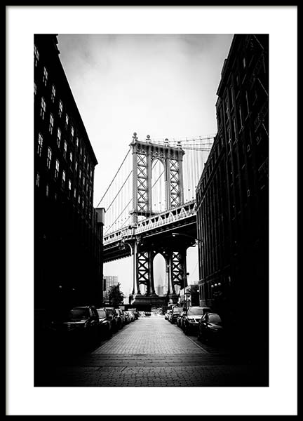 Streets Of Brooklyn Poster in the group Posters & Prints / Black & white at Desenio AB (3296)