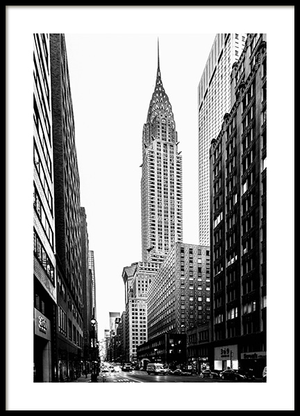 Streets Of New York Poster in the group Posters & Prints / Black & white at Desenio AB (3297)