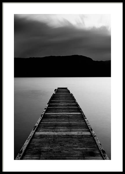 Wooden Pier Poster in the group Posters & Prints / Black & white at Desenio AB (3305)