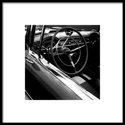 Chevrolet Car Poster in the group Posters & Prints / Black & white at Desenio AB (3320)