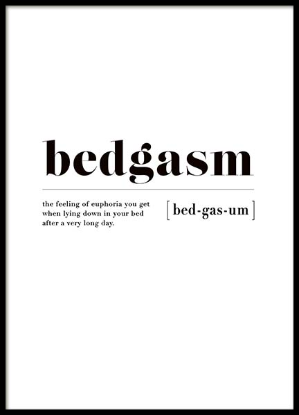 Bedgasm Poster in the group Posters & Prints / Typography & quotes at Desenio AB (3345)