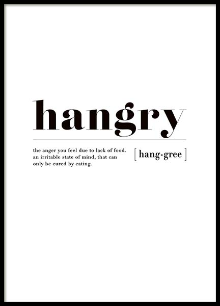 Hangry Poster in the group Posters & Prints / Text posters at Desenio AB (3347)