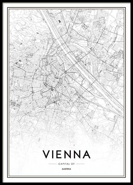 Vienna Map Poster in the group Posters & Prints / Maps & cities at Desenio AB (3355)