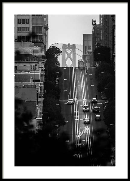 Streets Of San Francisco Poster in the group Posters & Prints / Black & white at Desenio AB (3361)