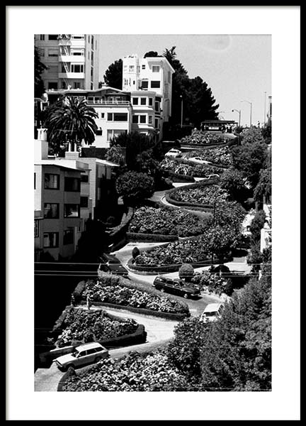Lombard Street Poster in the group Posters & Prints / Black & white at Desenio AB (3362)
