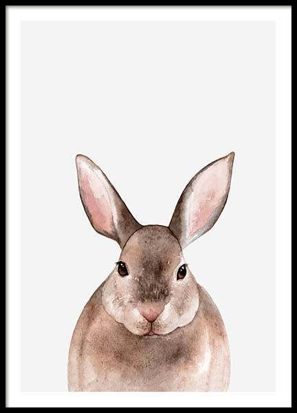 Little Rabbit Poster in the group Posters & Prints / Kids posters at Desenio AB (3364)