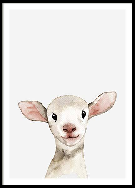 Little Lamb Poster in the group Posters & Prints / Kids posters at Desenio AB (3365)
