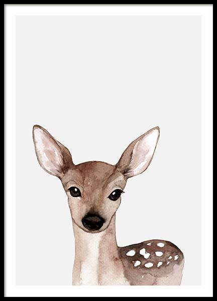 Little Deer Poster in the group Posters & Prints / Kids posters at Desenio AB (3369)