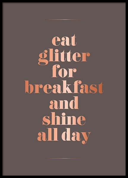 Eat Glitter Poster in the group Posters & Prints / Text posters at Desenio AB (3405)