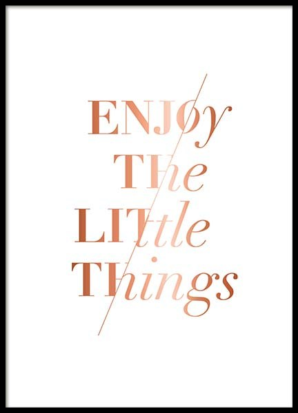Enjoy The Little Poster in the group Posters & Prints / Typography & quotes at Desenio AB (3406)