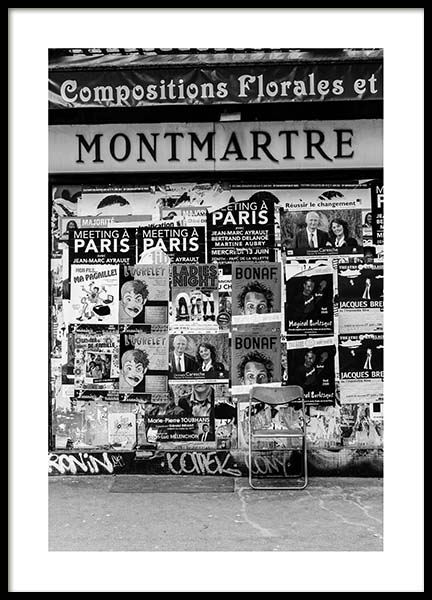 Montmartre Poster in the group Posters & Prints / Black & white at Desenio AB (3431)