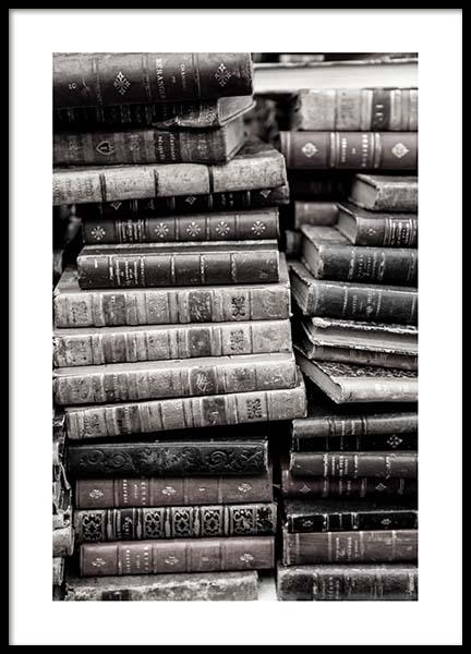 Old Books Poster in the group Posters & Prints / Photography at Desenio AB (3432)