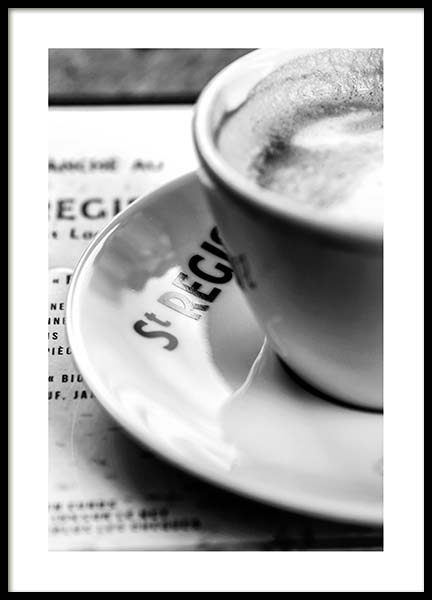 Café St. Regis Poster in the group Posters & Prints / Black & white at Desenio AB (3436)