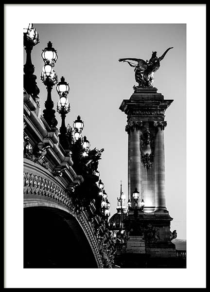 Pont Alexandre Iii Poster in the group Posters & Prints / Photography at Desenio AB (3437)