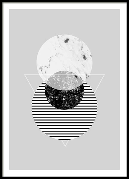 Graphic Planets 2 Poster in the group Posters & Prints / Black & white at Desenio AB (3443)